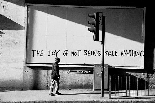 "Banksy, ""The Joy of Not Being Sold Anything"""