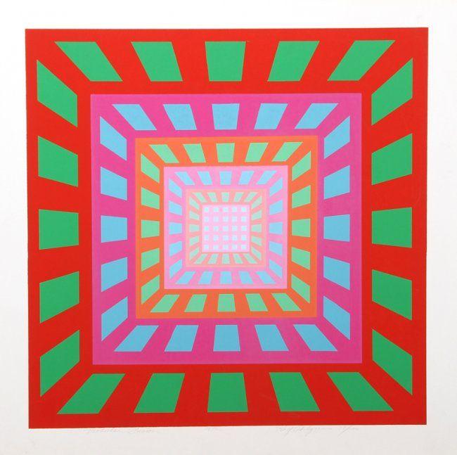 Roy Ahlgren, Modular Fusion, Silkscreen, 1972