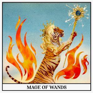 Mage of wands Tarot Card